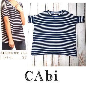 CAbi Striped Nautical Sailing Tee